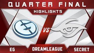 EG vs Secret DreamLeague 8 Major 2017 Highlights Dota 2