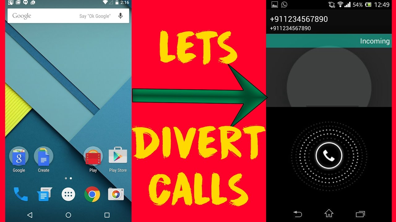 How To Divert Call In Android - VERY EASY - YouTube