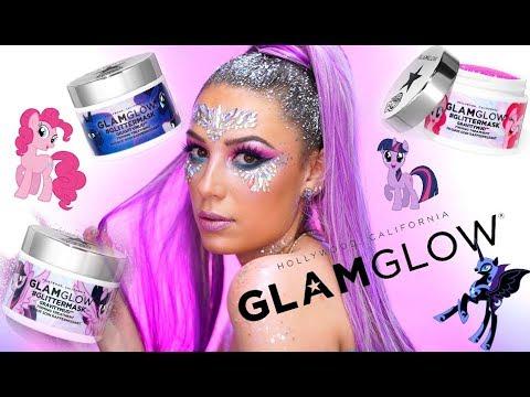 NEW! GLAMGLOW MY LITTLE PONY GLITTER MASKS!   Festival Glitter Makeup Tutorial   Victoria Lyn