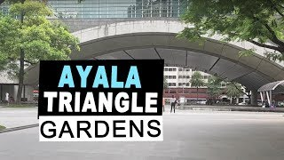 Ayala Triangle Gardens family Makati park good for jogging