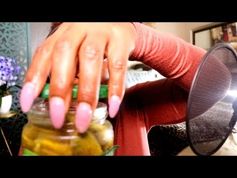 Pickle ASMR Eating Sounds Lip Smacking Crunch😻 Ramble 👅 Crab