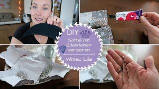 Sattel mit Glassteinen/Edelsteinen verzieren |Wintec Life Kindersattel |DIY | Kathis Daily Life