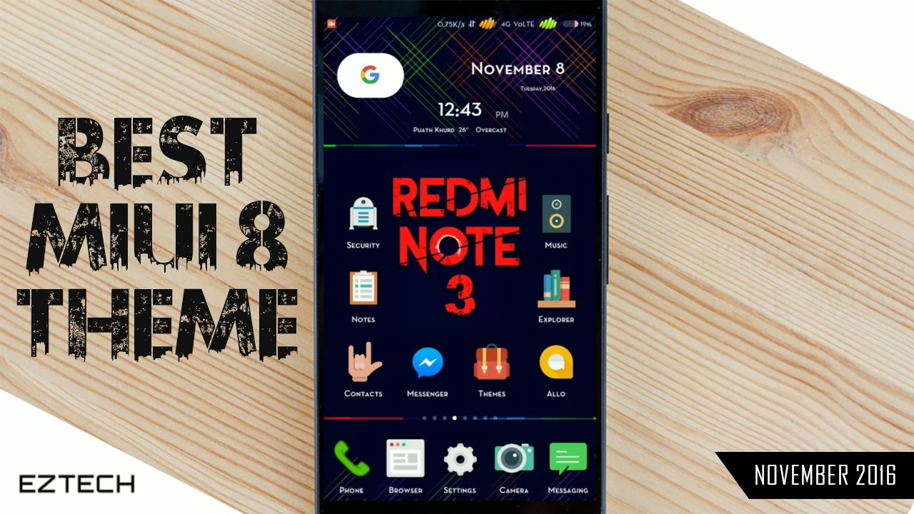 Best MIUI 8 Theme Ever | Specially for Redmi Note 3