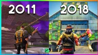 Evolution of Fortnite 2011-2018