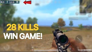 One Man Army | PUBG Mobile | 28 KILLS WIN! | Full Gameplay