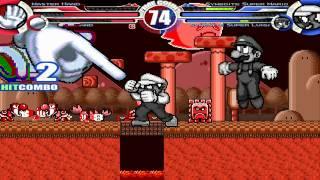 Master Hand & Crazy Hand vs Symboite Super Mario & Symboite Super Luigi MUGEN Battle!!!