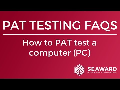 How To PAT Test A Computer (PC) - Seaward
