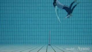 underwater hula hoop ayano pool フラフープ練習中 あやの pentax optio w80