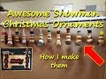 #55 - Awesome Snowman Christmas Ornaments... How I make them
