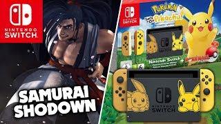 Samurai Shodown e bundle de Switch Pokémon Let's Go Pikachu Eevee anunciados!