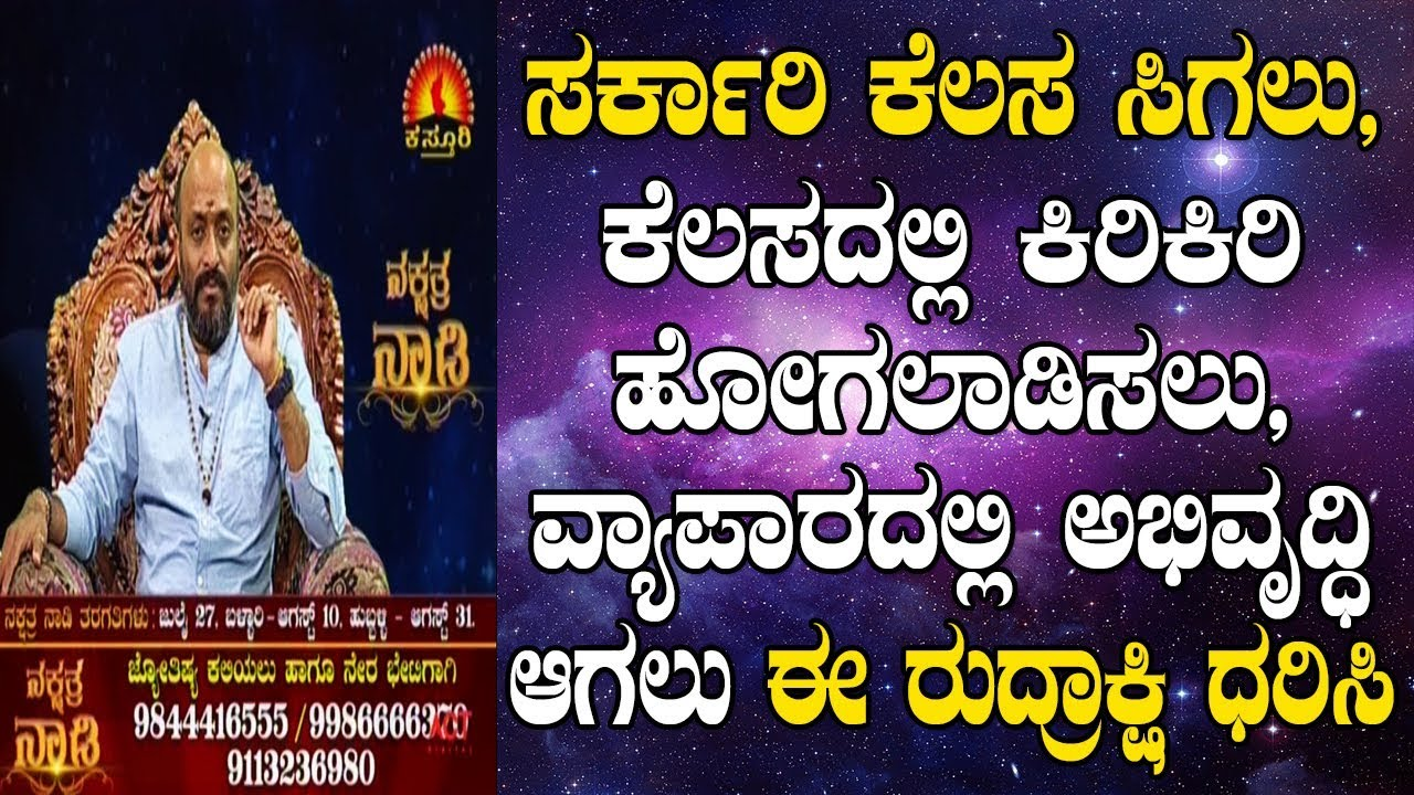 Rudraksha for Government Job, Career and Growth | Nakshatra Nadi by Dr   Dinesh | 09-07-2019