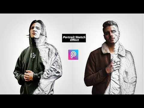 Portrait  Sketch Effect In PicsArt || Picsart Creative Tutorial || Picsart Unique Art thumbnail