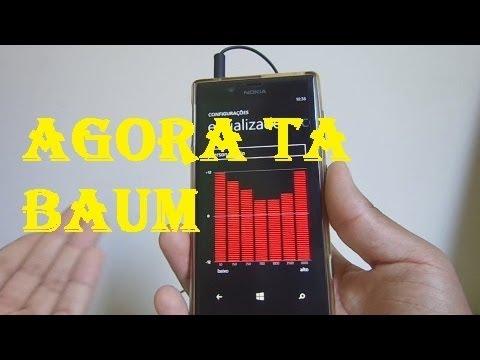 Como deixar o fone no lumia com boa qualidade de áudio.