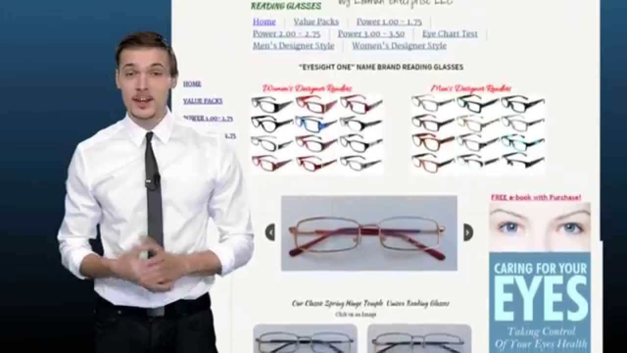 How to pick reading glasses we sell eyeglasses and designer for how to pick reading glasses we sell eyeglasses and designer for women and men chart test vision youtube geenschuldenfo Choice Image