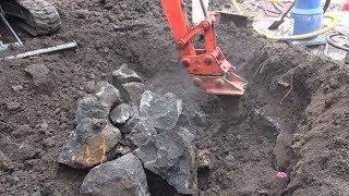 Blasting Basalt rock for a pool excavation in Fairfeild