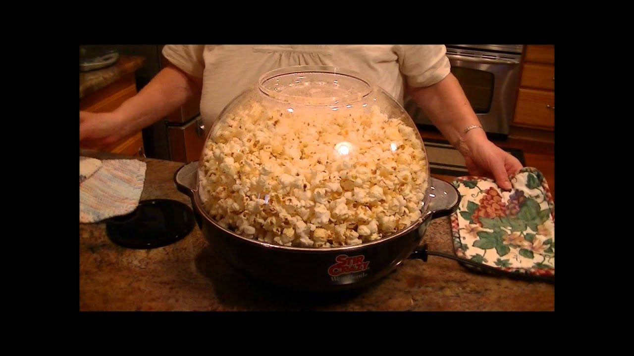 Product Review West Bend Stir Crazy Popcorn Popper Youtube