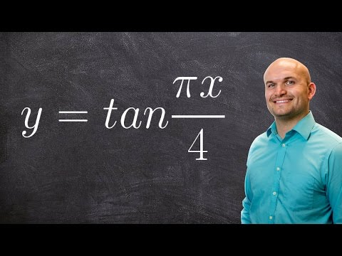 Pre-Calculus - Graphing the tangent function with a change of period  y = tan (πx/4)