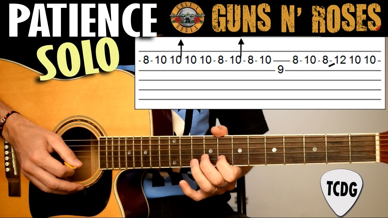 Patience Guns N Roses Solo En Guitarra Acstica Tutorial Con