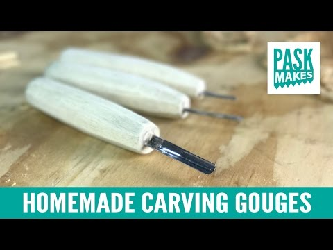 Homemade Carving Gouges - Made from a Hacksaw Blade