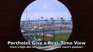 Magical Video Porthole in Inside Stateroom on the Disney Dream