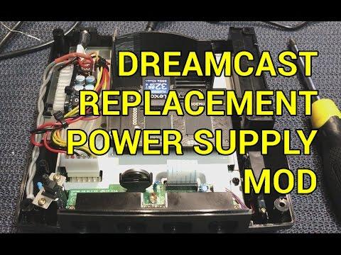 Sega Dreamcast DIY Replacement Power Supply PSU Jpn - YouTube