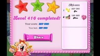Candy Crush Saga Level 416  ★★★