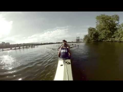 Harvard crew team rows down the Charles River | 360° VR video