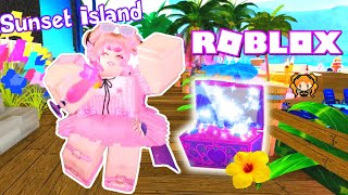 ROBLOX ROYALE HIGH SUNSET ISLAND ALL CHESTS How to Get TROPICAL HAIR FLOWER LEI 🌺 Pageant DISASTER!