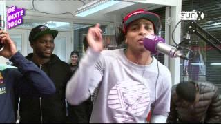 """Broederliefde freestyled op """"Alingo"""" van P-square tijdens De DiXte1000"""