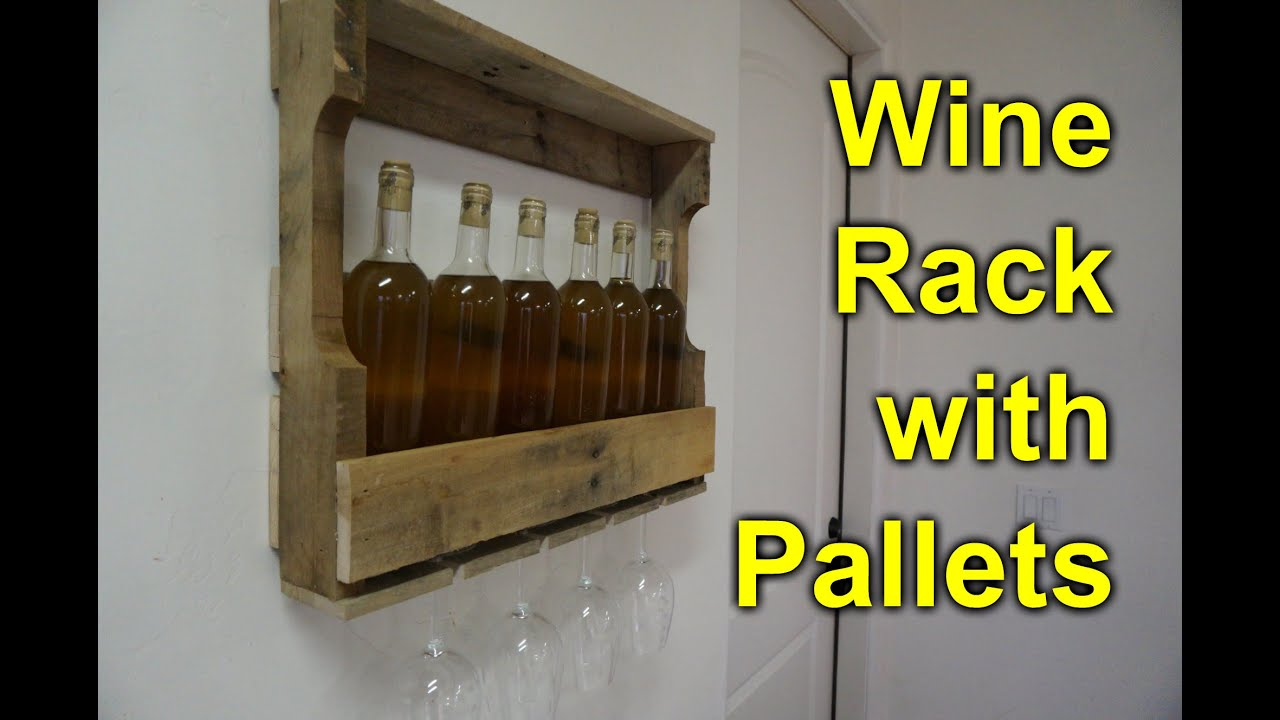 Pallet Wine Rack - Easy, Simple DIY Project - YouTube