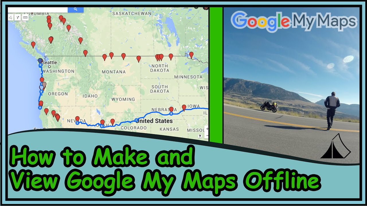 How to create a Google My Map and view Offline with Google Earth