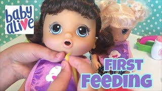 Baby Alive snackin noodles FIRST FEEDING  2017 NEW DOLLS
