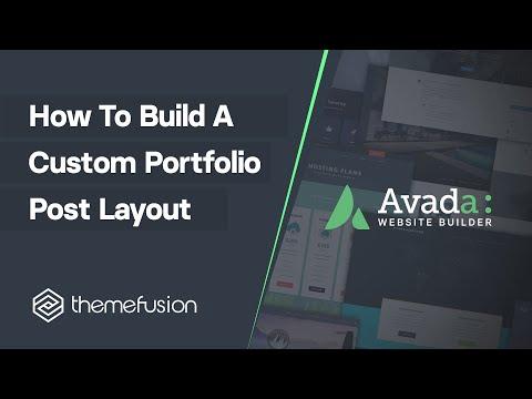 How To Build A Custom Portfolio Post Layout Video