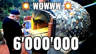 The Best BREATHTAKING Viḋeo !!! Wood-Fired Stone Oven construction video. DIY