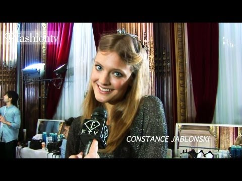 Constance Jablonski Backstage at Zuhair Murad Spring 2012 Paris Couture Fashion Week | FashionTV FTV