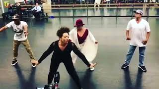 TISHA CAMPBELL MARTIN Rehearsing With Debbie Allen At Her Dance Academy [VIDEO}