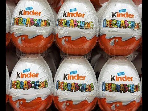 Eggs with toys Kinder Surprise открываем игрушки из разных коллекций  part1