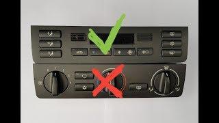 Замена блока кондиционера, на блок климат контроля в BMW e46