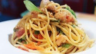 Spicy Blue Fin Tuna With Artisan Spaghetti By Adam Swanson At Carnavale 2014