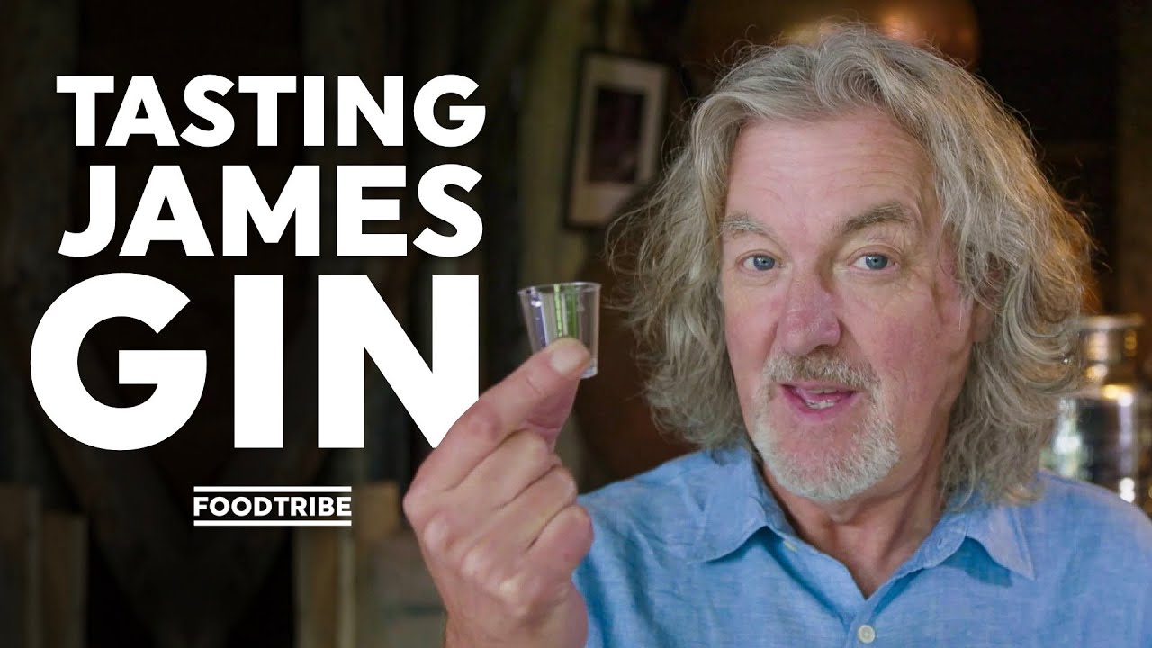 James May tastes his new gin for the first time