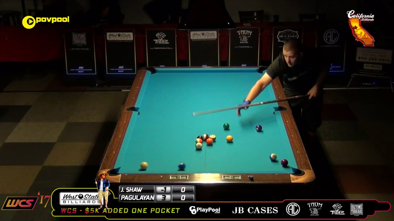 #7 - Alex PAGULAYAN vs Jayson SHAW / 2017 WCC One Pocket