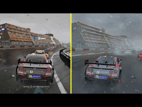 Forza 6 Xbox One S vs Xbox One X Forza 7 4K Graphics Comparison
