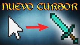 como cambiar tu puntero a la espada de minecraft