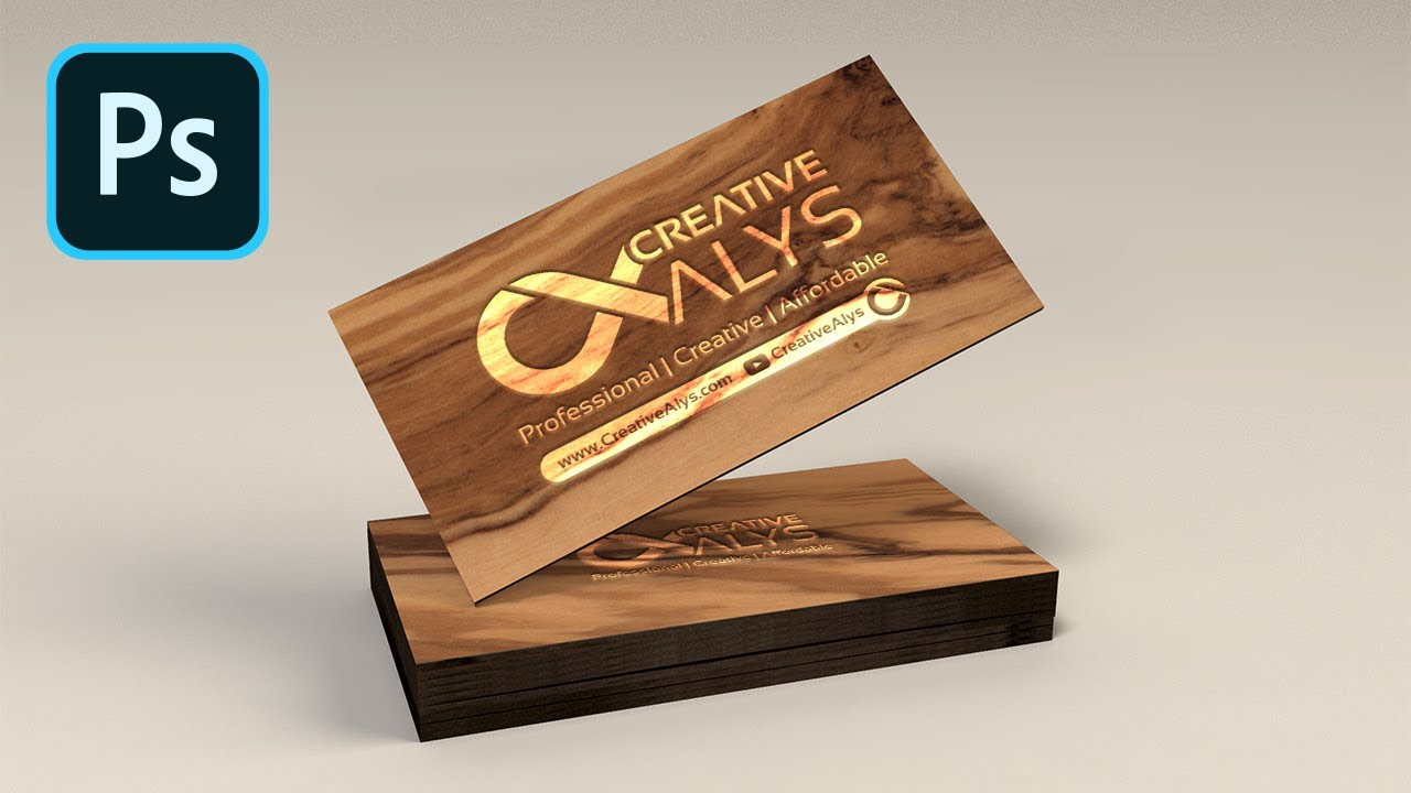 Create wooden business card mockup in photoshop youtube create wooden business card mockup in photoshop reheart Gallery