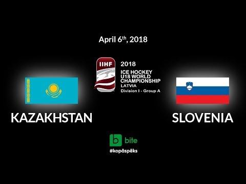 Kazakhstan - Slovenia, Ice Hockey U18 World Championship, 2018