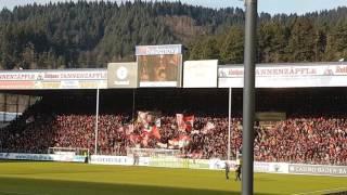 Badner Lied & SC Freiburg Fan Song beim Spiel SC Freiburg - Hertha BSC