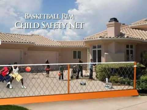 Ordinaire The Basketball Rim Child Safety Net