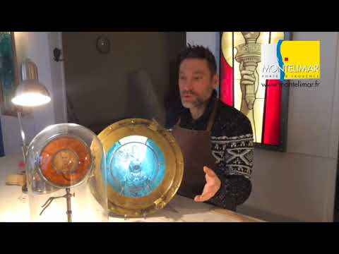 l\'artisan du vitrail Montélimar - YouTube