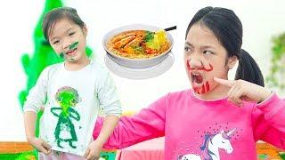 Kiều Anh Tô Màu Lên Mặt Chị ❤ Hà Vy Nấu Mỳ Hàn Quốc - Trang Vlog