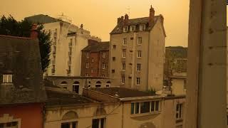 Ciel jaune sur la Bretagne le 16/10/2017